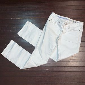 Converse one star white denim jeans